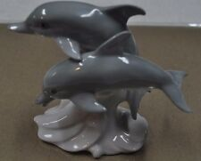 Otagiri Glazed Porcelain Dolphins Collectible Figurine from Japan!