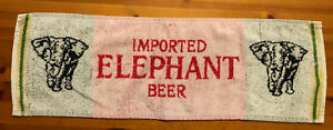 VINTAGE CARLSBERG ELEPHANT BEER PUB BAR TOWEL BEER MAT