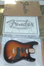 Fender® MIM HSH Deluxe Sunburst Strat Body~2 Point Bridge~Contoured Heel-New
