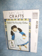 McCall's Crafts-Sophie doll & Her Clothes Pattern #4186