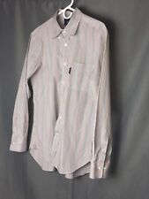 Faconnable Men's Stripe Cotton Long Sleeve Casual Dress Shirt Size Lg A01