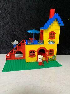 Vintage Lego Fabuland No.341 Catherine Cat Cottage & Mortimer Mouse 1979