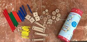 SCHYLLING Super MAKIT TOY Engineer Classic Wood Construction Toy 61 pc Build
