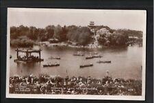 L@@K  Peasholm Lake Scarborough 1956 RP Postcard ~ Yorkshire ~ SUPER IMAGE