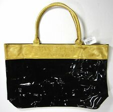Hanae Mori Yellow Black Large Tote Perfume Bag New