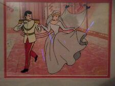 Disney Cinderella & Prince Animation Art Cel Sericel W/ Seal Framed wedding