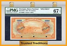 "TT PK 95s1 1942 NICARAGUA 20 CORDOBAS ""SPECIMEN"" PMG 67 EPQ POP 1 FINEST KNOWN"