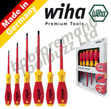 WIHA 25477 ELECTRICIANS 6 PIECE VDE 1000V SCREWDRIVER SET SoftFinish SLOT / POZI