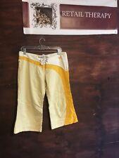gsus sindustries Linen Blend Bermuda Shorts Waist 30 Yellows