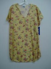 USA Made Nancy King Lingerie Sleepshirt Gown PJ Size Large Yellow Multi #214C