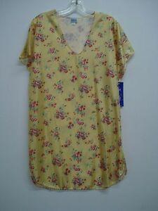 USA Made Nancy King Lingerie Sleepshirt Gown PJ Size 3X Yellow Multi #215C