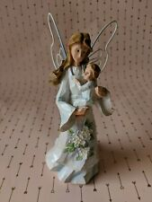 """Angel Accents Tender Love #71465 Exclusively by Roman, Inc. Wood 7 1/4"""" 2001"""
