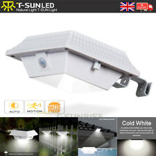PIR Motion Sensor 12 LED Solar Power Light Outdoor Gutter Wall Roof Garden Lamp