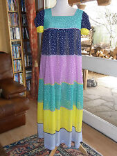 ROBE LONGUE EN VOILE T 36 VINTAGE 70's VEIL SUMMER DRESS size 8 UK S