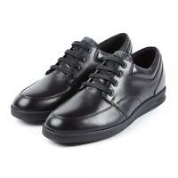 Kickers TROIKO LACE Mens Kids Leather Laced Smart School Shoes Black Sizes 40-46