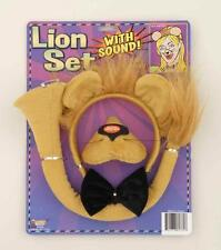 Lion Headband and Nose Ears Bow Tie Set with Sound