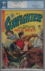 GUNFIGHTER #8 PGX 6.0- FINE EC COPY- 1949 INGELS CVR ART