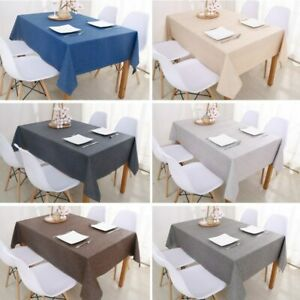 Table Cover Solid Color Cotton Linen Tablecloth Dining Table Cover Wedding Party