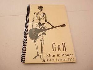 Guns & Roses RARE 1993 N. America Skin & Bones Concert Tour Itinerary #1