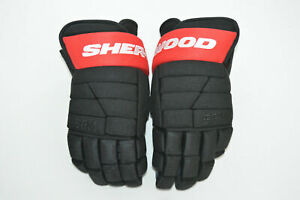 "BOBBY RYAN SHER-WOOD 14"" BPM-120 PRO-STOCK GLOVES NEW Ottawa Senators BLACK RED"