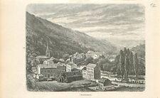 Chaudfontaine Tchôfontinne Liège Luik Wallonie GRAVURE ANTIQUE OLD PRINT 1880
