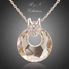 Swarovski Crystal Yellow Gold Fashion Necklaces & Pendants