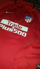 KOKE halfzip Atletico de Madrid player issue & Signed sweater PROOF shirt jersey