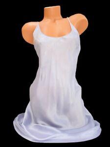 VICTORIA'S SECRET SILK SLIP NIGHTGOWN SLEEP DRESS LAVENDER SMALL
