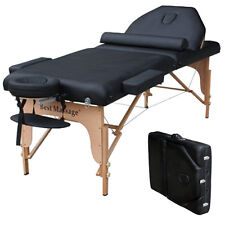 "Professional 77"" Long 30"" Wide 4"" Pad Reiki Portable Massage Table Black"
