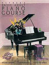Alfred's Basic Adult Piano Course Lesson Book, Bk 1: Book & CD, Good Condition B