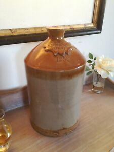Antique Stoneware Flagon Stone bottle J Deighton Otley 1258