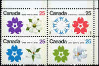 Canada Mint NH F-VF Scott #511b Block of 4 25c 1970 Expo'70 Stamps