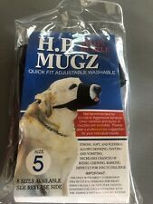 H.P. Mugz Adjustable Quick Fit Soft Dog Nylon Muzzle, Size 5