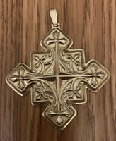 Reed and Barton Sterling CHRISTMAS CROSS Ornament 1979 Sterling Silver