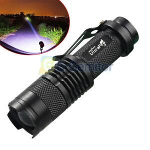 LED Torch Super Bright Police Flashlight Camp Light Lamp Mini Powerful Bright UK