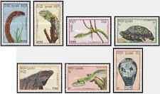 Timbres Reptiles Kampuchéa 844/50 ** lot 18367