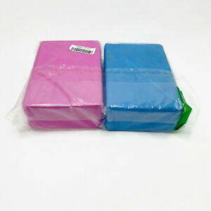 Danskin Yoga Blocks Hard Foam Blue and Pink 2 Pack New