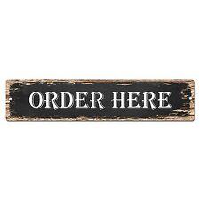 SP0822 ORDER HERE Street Sign Restaurant Bar Store Shop Cafe Home Chic Decor