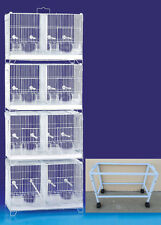 LARGE COMBO 4 Stack & Lock Double Breeder Breeding Bird Cages W/Dividers W/Stand