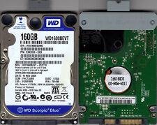 """Disque dur 2.5 """" WD Western Digital SATA 160 GB pour portable LapTop (formaté)"""