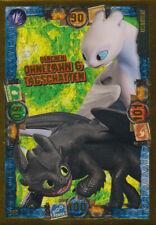 LE8 - Pärchen Ohnezahn&Tagschatten - Limitierte Karte-Dragons 3-Die geheime Welt