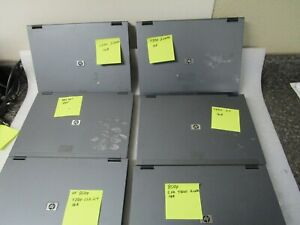 Qty (6) HP Compaq 8510 Laptops (5) Boots to BIOS - AS IS for Parts or Repair -