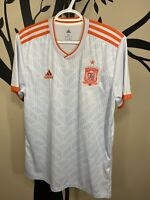 Adidas Spain Away Soccer Jersey 18/19 RFCF Grey size M NEW BR2697 SHIPS SAME DAY