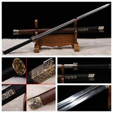 "100% HANDMADE CHINESE SWORD ""HAN JIAN ""(劍)PATTERN STEEL RAZOR SHARP BATTLE READY"