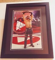 SETH ROLLINS AUTHENTIC Signed Autographed WWE WWF FRAMED 8X10 PHOTO BECKETT COA