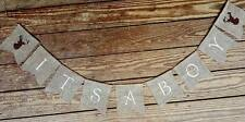 ITS A BOY Banner Baby ,Boy Bunting Garland,Decor,Gender reveal PHOTO SHOWER DEER