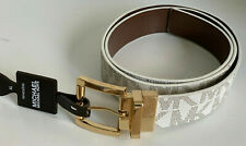MICHAEL KORS MK BROWN / IVORY WHITE TWIST REVERSIBLE LEATHER BELT XL EXTRA LARGE