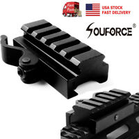"""US Quick Release 20mm Picatinny Rail 3/4"""" Riser base QD Mount for Rifle Sight"""