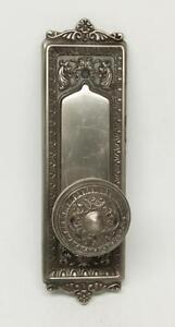 Single Ornate Knob with Matching Plate