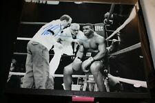 IRON MIKE TYSON SIGNED AUTOGRAPHED B/W 16X20 PHOTO CORNER POSE JSA WITNESS